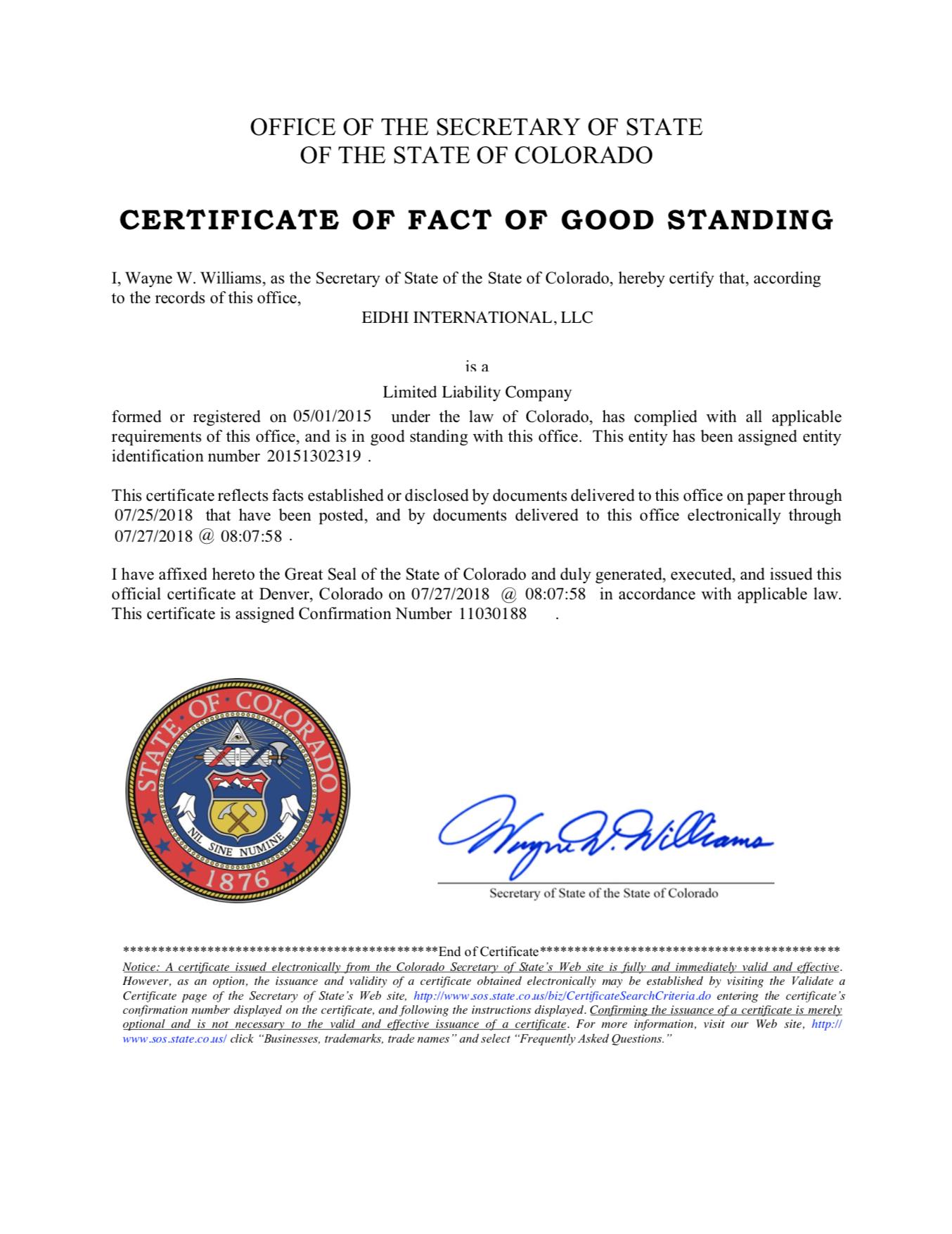 certificate-of-fact-of-good-standing-eidhi-university-2018
