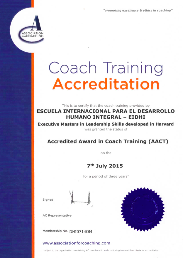 EIDHI - AC Certificate - Harvard