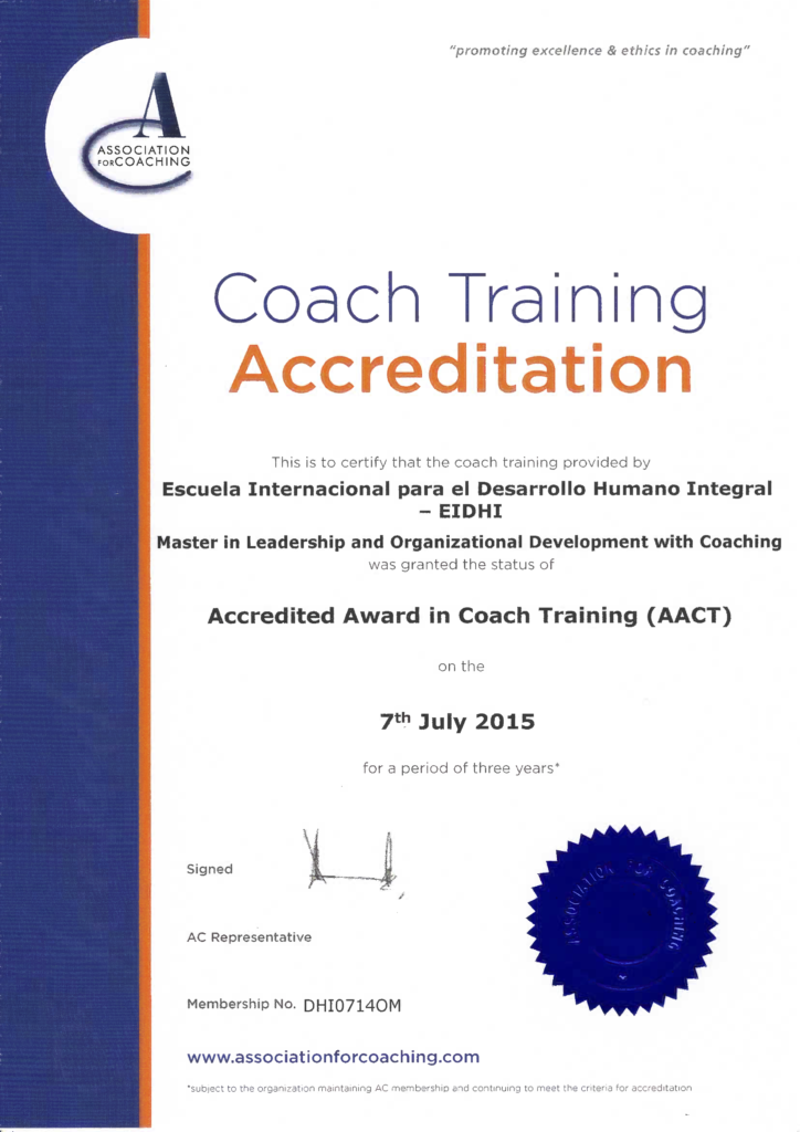 EIDHI CTA certificate certificado AC
