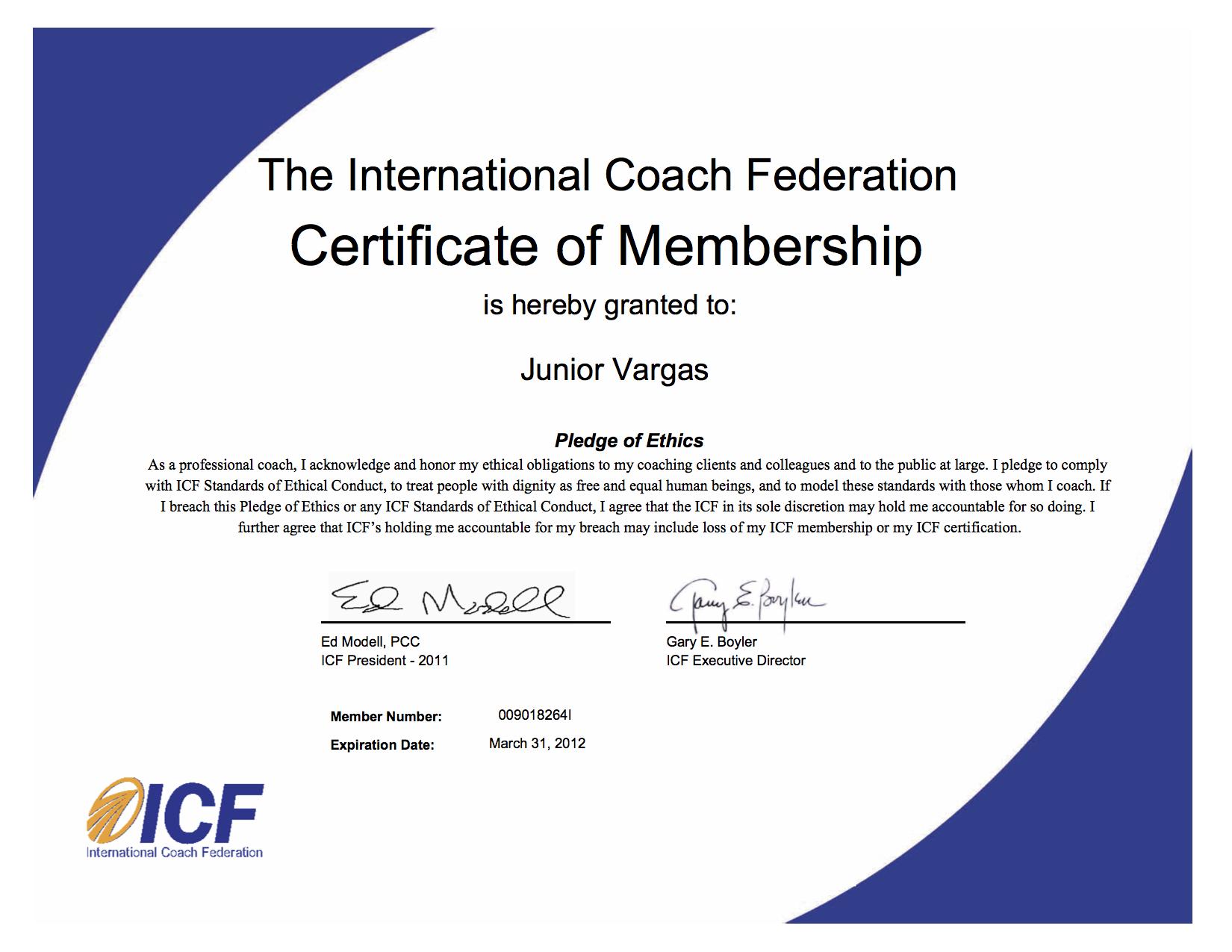 MemberCertificateICF